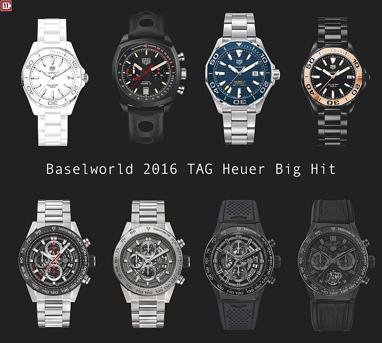 Detailed Review With The  2016 New Tag heuer Replica Watches