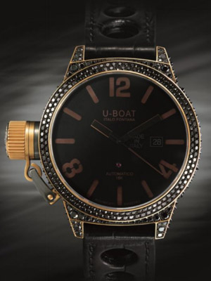 U-Boat Produces Bespoke Classico with Black Diamonds Replica Watch Review