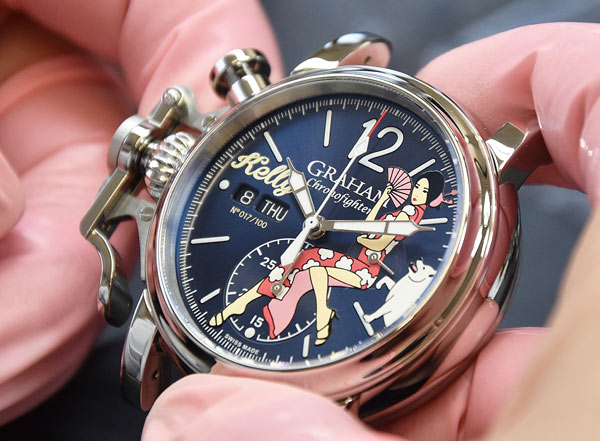 Swiss Movement Replica Watches Graham – Chronofighter Vintage Nose Art Ltd — Kelly